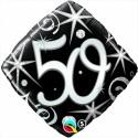 Luftballon aus Folie, Birthday Elegant 50, zum 50. Geburtstag, mit Helium