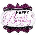 Happy Birthday, Folienballon, Shape, ohne Helium zum Geburtstag