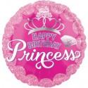 Geburtstags-Luftballon Happy Birthday Princess zum Geburtstag (ohne Helium)