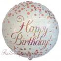 Geburtstags-Luftballon Sparkling Fizz Birthday Rosegold, inklusive Helium