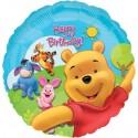Pooh Birthday Luftballon mit Helium-Ballongas