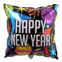 Silvester-Luftballon aus Folie, Happy New Year, Balloons, mit Helium-Ballongas gefüllt