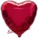 Herzluftballon aus Folie, Burgund (heliumgefüllt)
