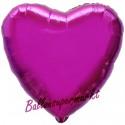 Herzluftballon aus Folie, Fuchsia