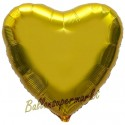 Herzluftballon aus Folie, Gold (ungefüllt)
