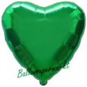 Herzluftballon aus Folie, Grün (heliumgefüllt)