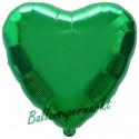 Herzluftballon aus Folie, Grün (ungefüllt)