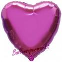 Herzluftballon aus Folie, Pink (ungefüllt)