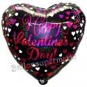 Happy Valentine's Day Pink Celebration, holografischer Herzluftballon inklusive Helium