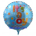 Luftballon zu Geburt, Taufe, Babyparty, It's a Boy, ohne Helium-Ballongas