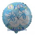 Luftballon zu Geburt, Taufe, Babyparty, It's a Boy Babyschühchen, ohne Helium-Ballongas