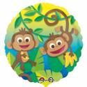 Luftballon Funny Monkeys, Folienballon mit Ballongas