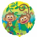 Funny Monkeys, Folienballon ohne Helium-Ballongas