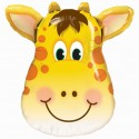 Luftballon lustige Giraffe, Folienballon mit Ballongas