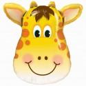 Luftballon lustige Giraffe, Folienballon ohne Ballongas