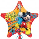 Luftballon Mickey Rockstar, Mickey Maus in Sternform Folienballon mit Ballongas