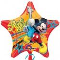 Micky Rockstar, Luftballon aus Folie ohne Helium-Ballongas