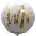 Mr Gold Glimmer Rundballon zur Hochzeit, Folienballon, inklusive Helium-Ballongas