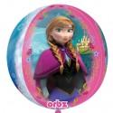 Luftballon Orbz Eiskönigin, Anna und Elsa, Frozen, Folienballon mit Ballongas