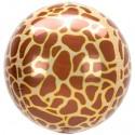 Luftballon Orbz Animal Print Giraffe, Folienballon mit Ballongas
