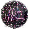 Geburtstags-Luftballon Pink Celebration Birthday, inklusive Helium