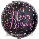 Geburtstags-Luftballon Pink Celebration Birthday, ohne Helium