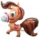 Luftballon Playfull Horse, braun, Pferd, Folienballon mit Ballongas