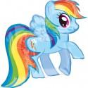 Luftballon My Little Pony, Rainbow Dash, Folienballon ohne Ballongas