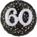 Sparkling Birthday Jumbo 3D zum 60. Geburtstag, Jumbo-Folienballon mit Ballongas