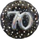 Sparkling Birthday Jumbo 3D zum 70. Geburtstag, Jumbo-Folienballon, ohne Helium