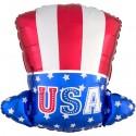 Luftballon Uncle Sam Hut, USA Folienballon mit Helium