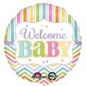 Luftballon zu Babyparty Geburt und Taufe, Welcome Baby, Ballon mit Ballongas Helium