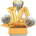 5 Luftballons zur Hochzeit, Alles Gute zum Jawort, inklusive Helium