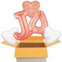 5 Luftballons zur Hochzeit, Jawort, inklusive Helium
