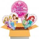 3 Luftballons zum Geburtstag, Disney Princess Happy Birthday, inklusive Ballongas
