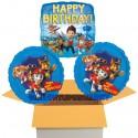 3 Luftballons zum Geburtstag, Paw Patrol - Helfer auf vier Pfoten, Happy Birthday, inklusive Ballongas