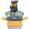 3 Geburtstags-Luftballons Paw Patrol Happy Birthday, inklusive Helium