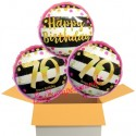 3 Luftballons, Pink & Gold Milestone Birthday zum 70. Geburtstag