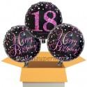 3 Luftballons, Pink Celebration zum 18. Geburtstag