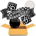 5 Geburtstags-Luftballons Elegant Birthday 18, zum 18. Geburtstag, inklusive Helium