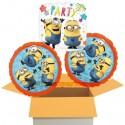 3 Luftballons zum Geburtstag, Minions Party, inklusive Ballongas