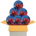 Spider-Man Rund-Luftballons mit Helium, Kindergeburtstag Geschenke, 6 Stück