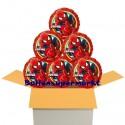 Ultimate Spider-Man Rund-Luftballons mit Helium, Kindergeburtstag Geschenke, 6 Stück