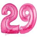 Luftballons aus Folie Zahl 29, Pink, 100 cm mit Helium zum 29. Geburtstag