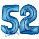 Luftballons aus Folie Zahl 52,Blau, 100 cm mit Helium zum 52. Geburtstag