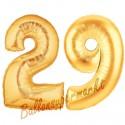 Luftballons aus Folie Zahl 29, Gold, 100 cm mit Helium zum 29. Geburtstag
