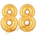 Luftballons aus Folie Zahl 88, Gold, 100 cm mit Helium zum 88. Geburtstag
