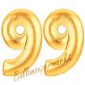 Luftballons aus Folie Zahl 99, Gold, 100 cm mit Helium zum 99. Geburtstag