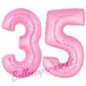Luftballons aus Folie Zahl 35, Rosa, 100 cm mit Helium zum 35. Geburtstag