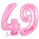 Luftballons aus Folie Zahl 49 Rosa, 100 cm mit Helium zum 49. Geburtstag